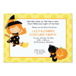 "Little Witch Halloween Party 5x7 Invitation 5"" X 7"" Invitation Card"