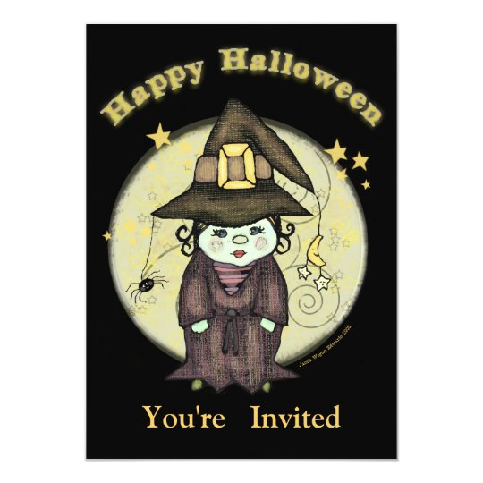 Little Witch Halloween Party Invitation