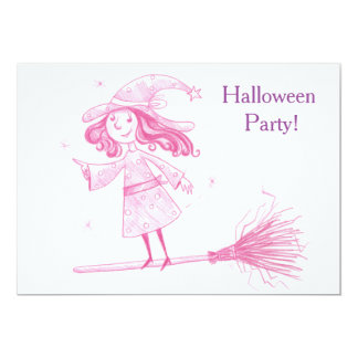 Little WITCH Halloween Party Invite