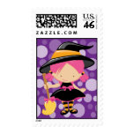 Little Witch Halloween Postage Stamp