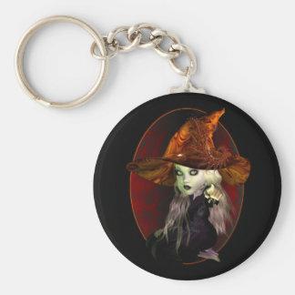 Little Witch Basic Round Button Keychain