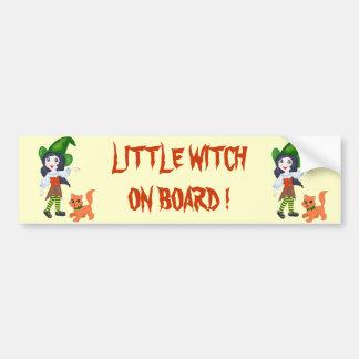 Little Witch On Board Bumper Sticker