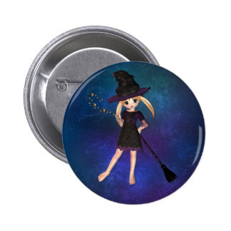 Little Witch Pinback Button