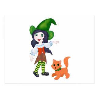 Little Witch Postcard