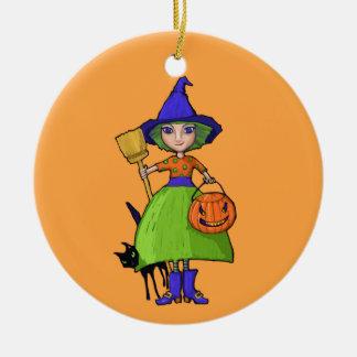 Little Witch pumpkin Ornament