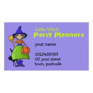 Little Witch purple Business Card