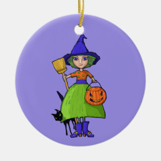 Little Witch purple Ornament