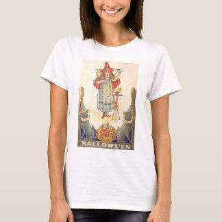 Little Witch (Vintage Halloween Card) T-Shirt