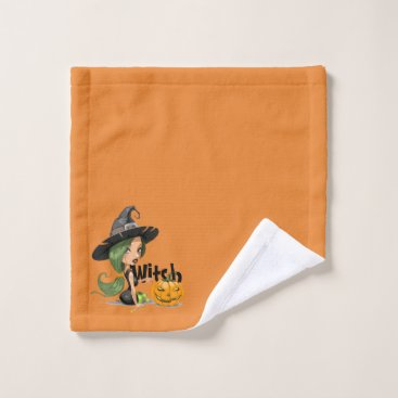 Halloween Themed Little Witch Wash Cloth
