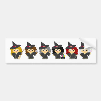 Little witches bumper stickers