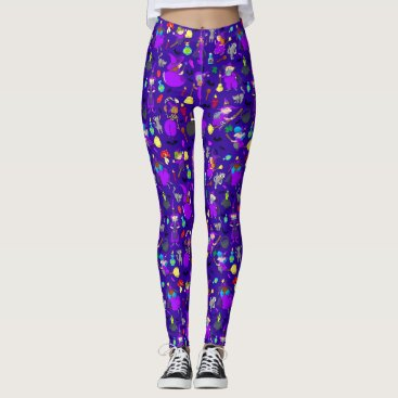 Halloween Themed Little Witches Leggings