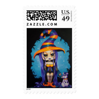 Little Witchy Gothic US Postage Stamp