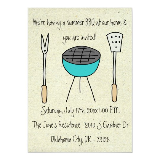 little wobblies barbecue invitations