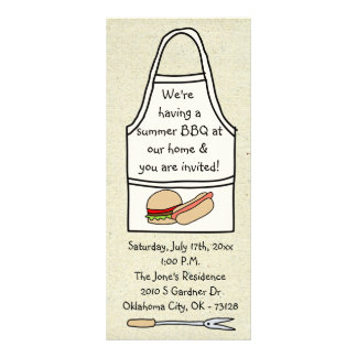 little wobblies barbecue invitations rack card