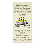 little wobblies birthday invitations full color rack card