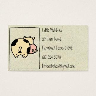 little wobblies cow business cards