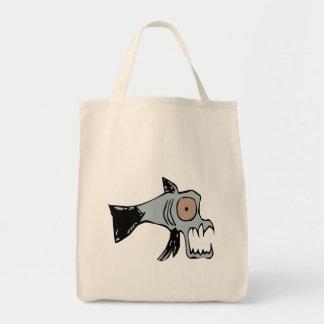 little wobblies creepy fish  tote bag