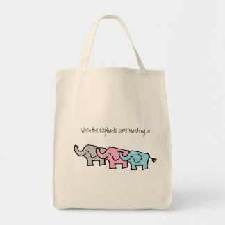 little wobblies elephants tote bag