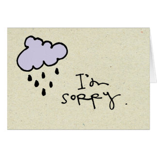 little wobblies Im sorry Stationery Note Card