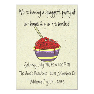 little wobblies spagetti party invitations
