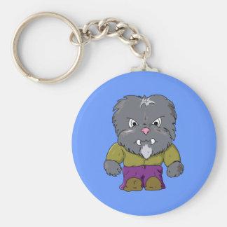 Little Wolfman Basic Round Button Keychain