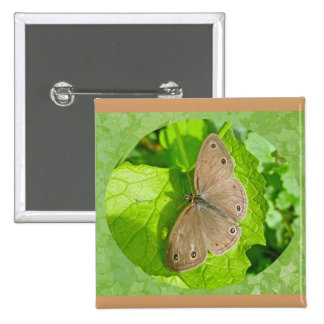 Little Wood Satyr Butterfly Coordinating Items Pinback Button