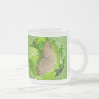Little Wood Satyr Butterfly Frosted Glass Coffee Mug