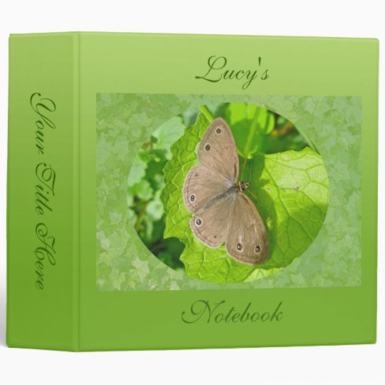 Little Wood Satyr Butterfly Items Binder