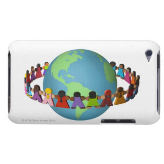 Little wooden dolls of varied ethnicities Case-Mate iPod touch case