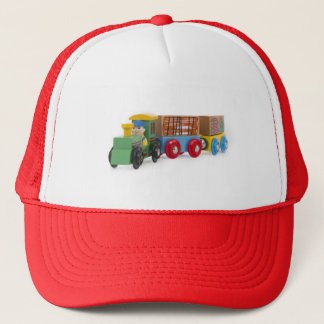 little wooden train trucker hat