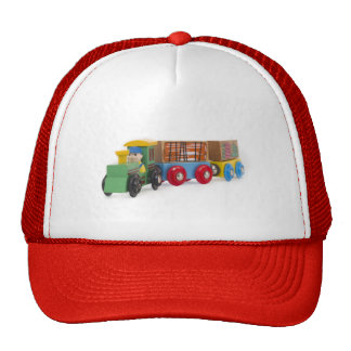 little wooden train trucker hat