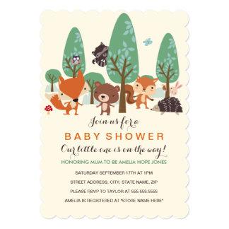 Little Woodland Friends Baby Shower Invitation