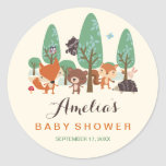 Little Woodland Friends Baby Shower Stickers