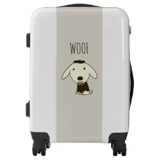 Little Woof Dog | Custom Text Luggage