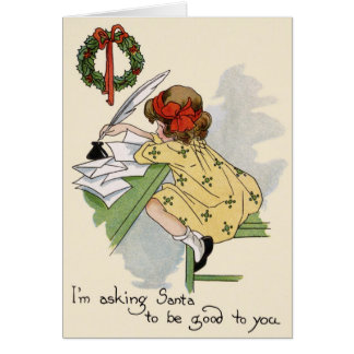Little Writer Merry Christmas Card