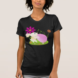 Little Yellow Baby Bunny With Flowers T-Shirt