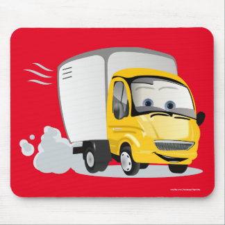 Little Yellow Cartoon Truck for Kids! Mouse Pad
