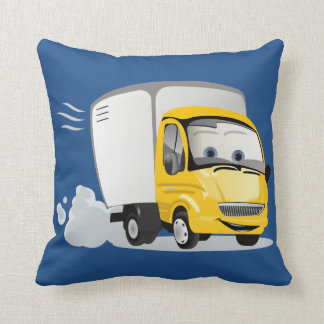 Little Yellow Cartoon Truck for Kids! Throw Pillow