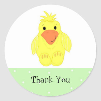 Little Yellow Duck Thank You Stickers
