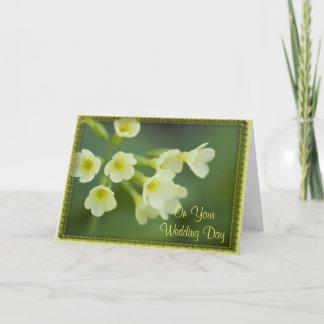 Little Yellow Flowers Blended Family Wedding Card