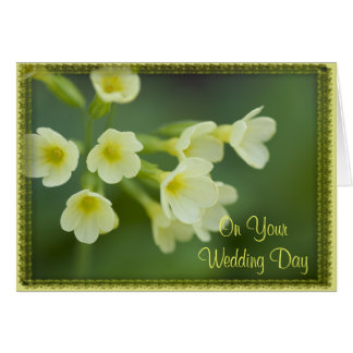 Little Yellow Flowers Blended Family Wedding Card