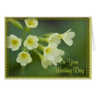 Little Yellow Flowers Second Wedding Card