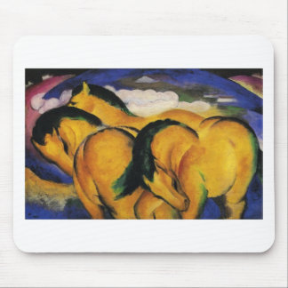 Little Yellow Horses by Franz Marc Mouse Pad