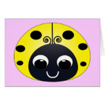 Little Yellow Ladybug Note Card