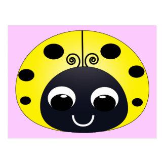 Little Yellow Ladybug Postcard
