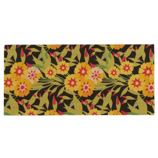 Little Yellow Sunflower Blooms Wood USB 2.0 Flash Drive