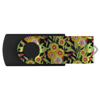 Little Yellow Sunflower Blooms Swivel USB 2.0 Flash Drive