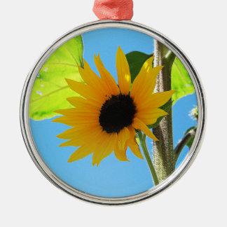 Little Yellow Sunflower Premium Ornament