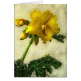 Little Yellow Wildflowers 1 Low-Key Card