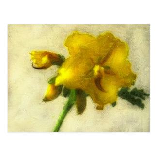 Little Yellow Wildflowers 1 Low-Key Postcard